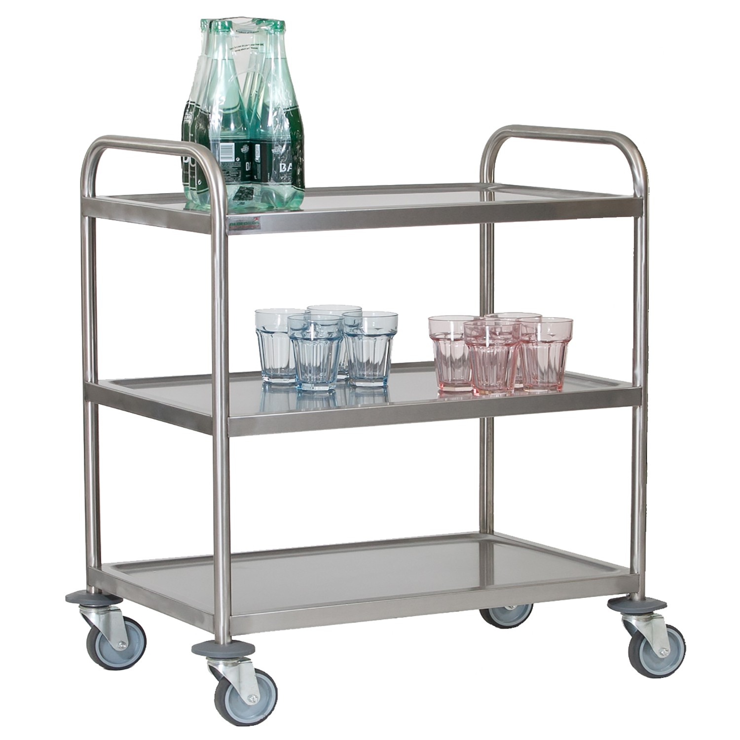 Stainless Steel 3 Tier Trolley Small Bedford Shelving Ltd